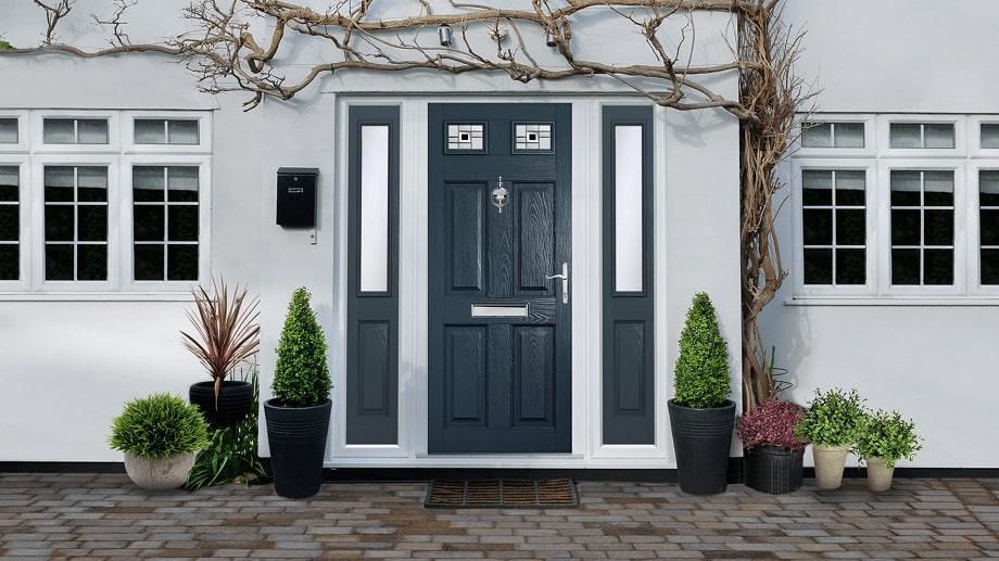 grey door set