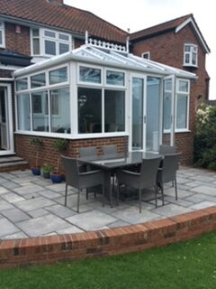 french doors on conservatory