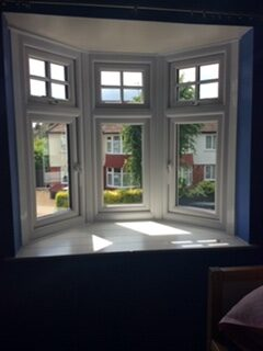 upvc double glazing bay window