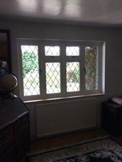 internal view leaded windows