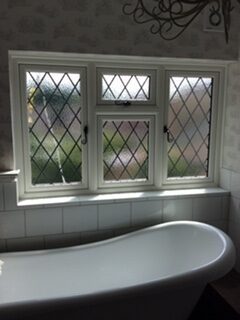 leaded bathroom windows