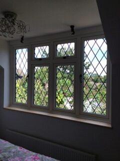 inside leaded windows