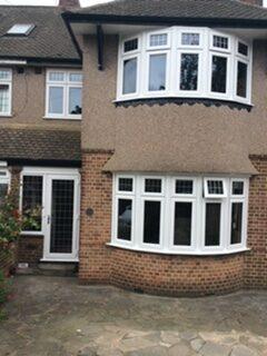2 x 5 part bays with porch door