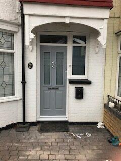 slate grey composite front door