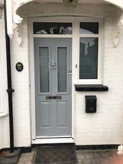 composite front door slate grey