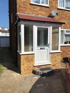 upvc front door in white