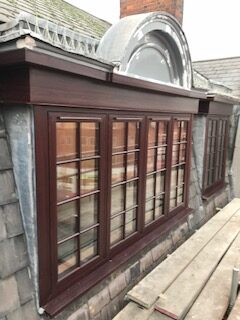 rosewood upvc with matching fascia