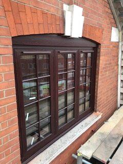 rosewood upvc window