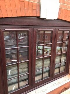 upvc rosewood with astragal bars