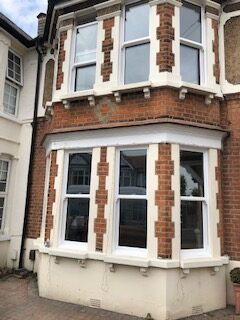 4 part bay sash windows