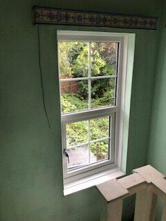 double glazed stair window