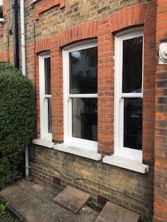 set of 3 upvc sash windows
