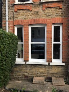 trio of upvc sash windows