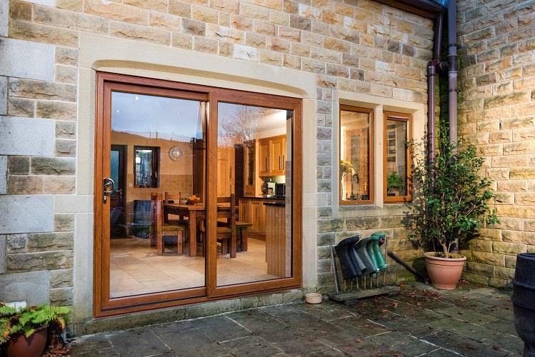 Golden Oak patio doors
